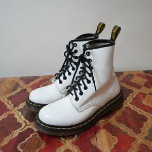 Dr. Martens 1460 Patent leather WHITE 8-Eye Boots
